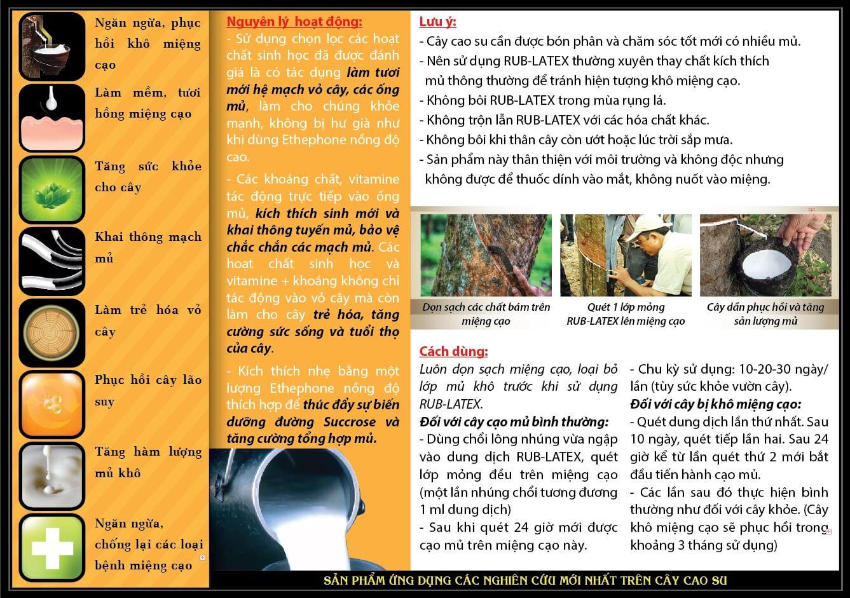 công dụng thuốc trị nấm khô miệng cạo RUB-LATEX